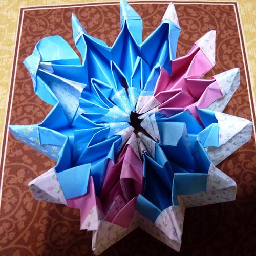折り紙万華鏡 8 色